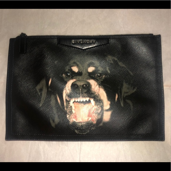 45602ca825 Givenchy Handbags - Givenchy Rottweiler dog face clutch